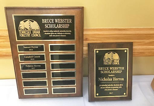 Bruce Webster Scholarship Plaque