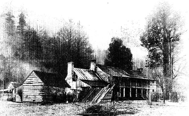 Wolf Creek Stagecoach Inn in 1890