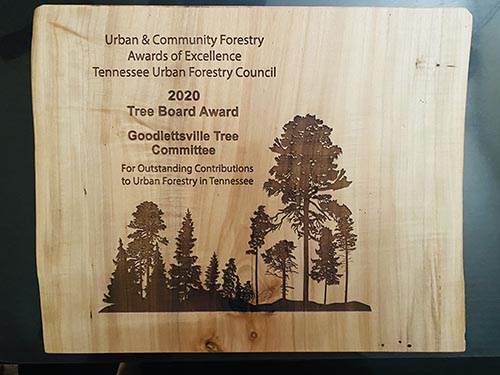 Tree Board Award: Goodlettsville Tree Committee